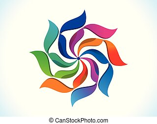 abstract artistic creative rainbow floral .eps