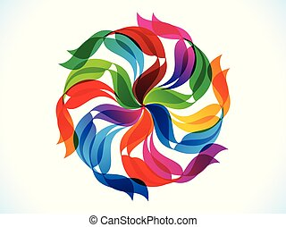 abstract artistic creative rainbow floral explode