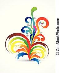 abstract artistic creative rainbow floral smoke