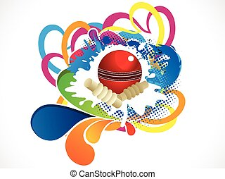 abstract artistic cricket ball background