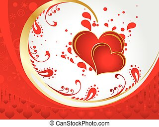 Abstract artistic detailed valentine heart vector illustration