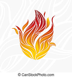 abstract artistic fire flame card vector illustration