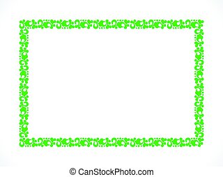 abstract artistic green border