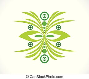 abstract artistic green floral