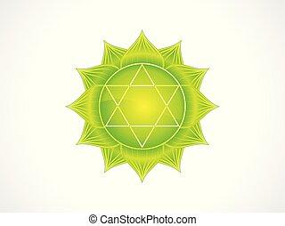 abstract artistic green heart chakra.eps