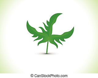 abstract artistic green leaf