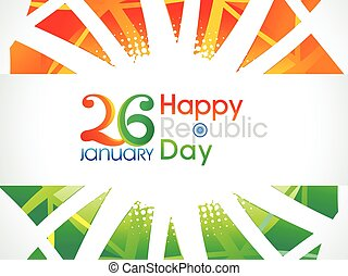 abstract artistic indian republic day text