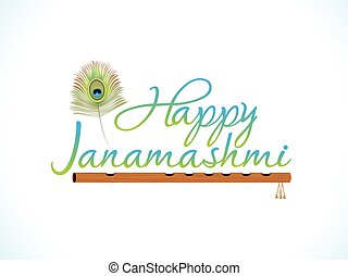 abstract artistic janamashtmi background.eps
