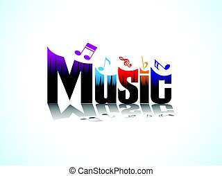 abstract artistic music text