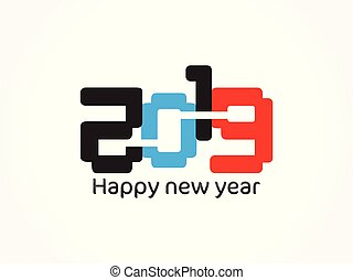 abstract artistic new year text.eps - abstract artistic new...