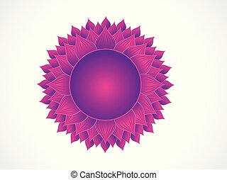 abstract artistic purple crown chakra.eps