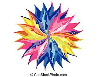 abstract artistic rainbow circle background