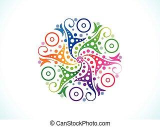 abstract artistic rainbow circle