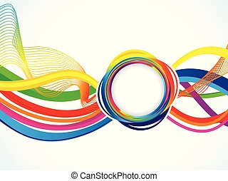 abstract artistic rainbow wave background