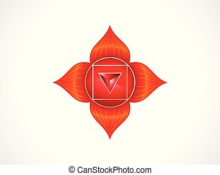 abstract artistic red root chakra.eps