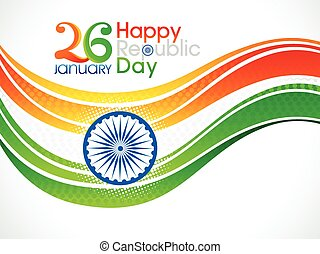 abstract artistic republic day background