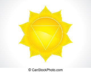 abstract artistic solar plexus chakra
