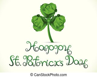 abstract artistic st patricks background