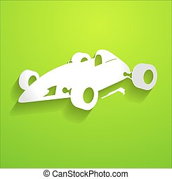Sports Racing Car Vector Shape
