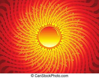 abstract artistic sun