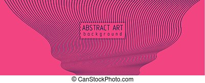 Abstract artistic vector linear background, wavy lines, rhythmic waves flowing, textile fabric theme pattern.