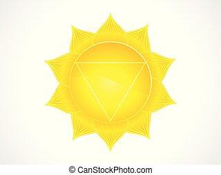 abstract artistic yellow solar plexus chakra.eps - abstract...