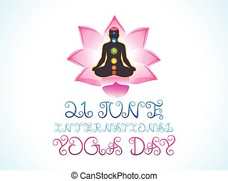 abstract artistic yoga day.eps
