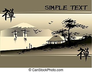 abstract Asian Landscape