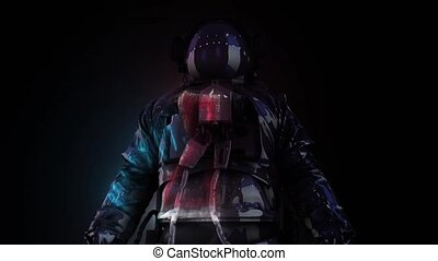 Abstract Astronaut in Space Suit 4k