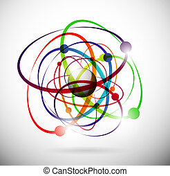 Abstract atom - Abstract image of an atom with electrons. ...