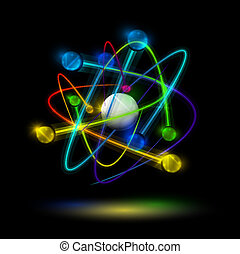 Abstract atom - Abstract image of an atom with electrons on ...