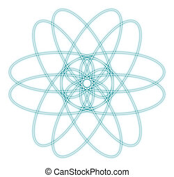 abstract atom graphic - background with circles and dots...