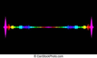 Abstract audio visualizer equalizer. Digital illustration...