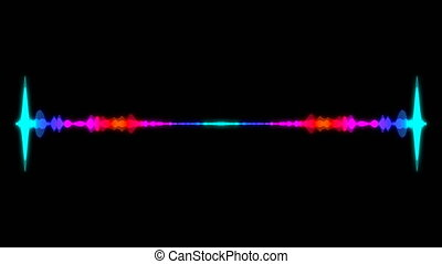 Abstract audio visualizer equalizer. Digital illustration backdrop