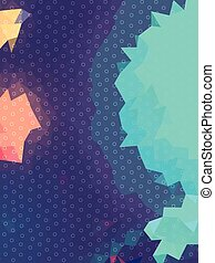 Abstract aurora blue triangles and circle texture