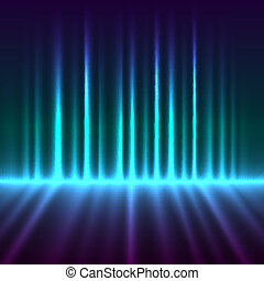 Abstract aurora borealis lights vector background.