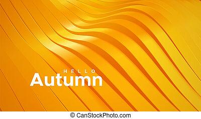 abstract, autumn., achtergrond., golvend, linten, hallo