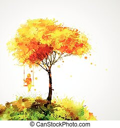 Abstract autumn background design