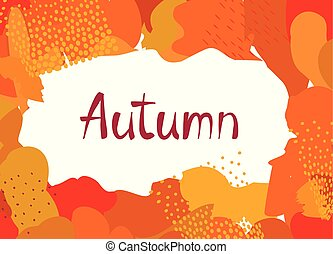 Abstract autumn background design. ?reative fall poster with...