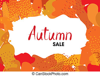 Abstract autumn background design. ??reative fall poster ...