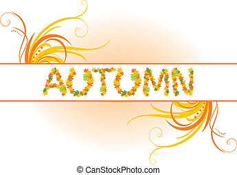 Abstract autumn banner