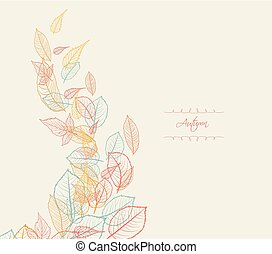 Abstract autumn beauty background