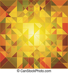 Abstract Autumn Colors Geometric Background