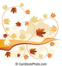 abstract autumn fallen leaves