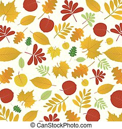 Abstract autumn floral pattern background, vector