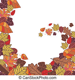 abstract autumn frame