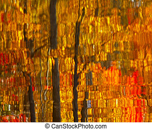 Abstract Autumn Leaves Reflection