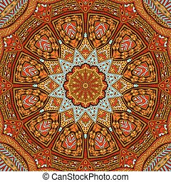 Abstract  autumn mandala ethnic tribal pattern