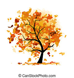 Abstract autumn tree for your design