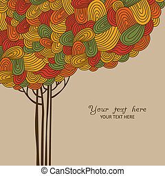 Abstract autumn tree illustration m